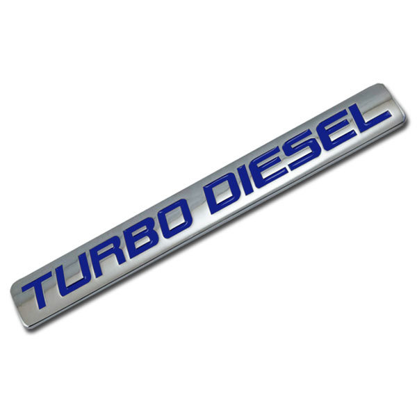 CHROME//BLUE METAL TURBO ENGINE RACE MOTOR SWAP EMBLEM BADGE FOR TRUNK HOOD DOOR